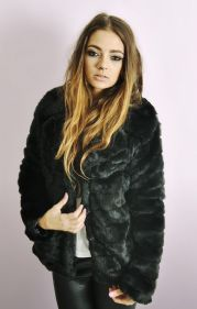 Ladies Short Fur Party Jacket